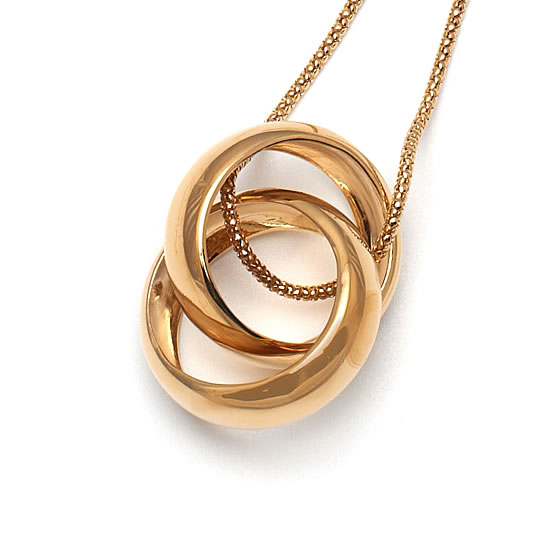 Fiorelli Entwinned Gold Lover's Rings Necklace