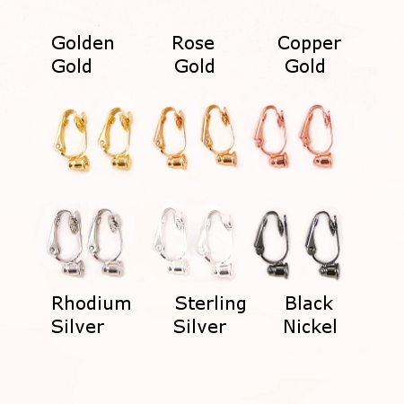 All 6 Colours of No Bend Earring Converters - 6 Pairs