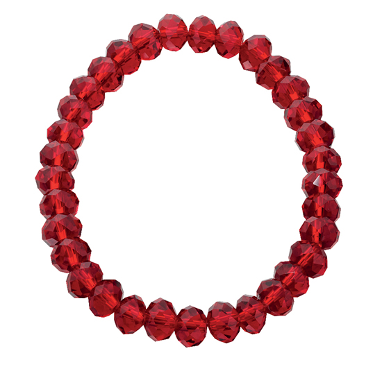 Basics Beaded Bracelet - Red
