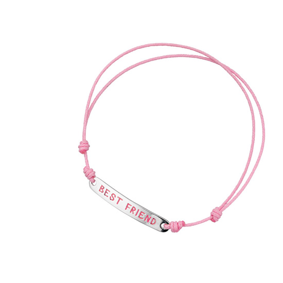 Basics Silver Pink Friendship Bracelet