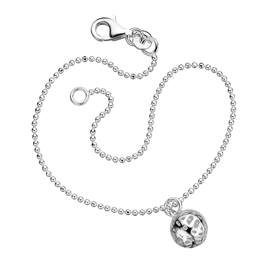 Basics Silver Patterned Ball Bracelet