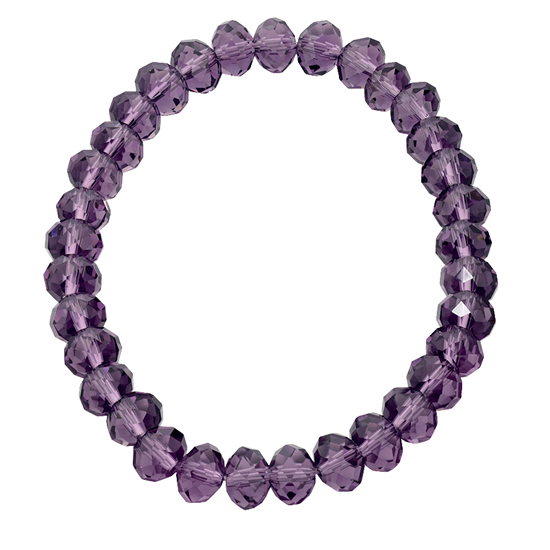 Basics Beaded Bracelet - Purple