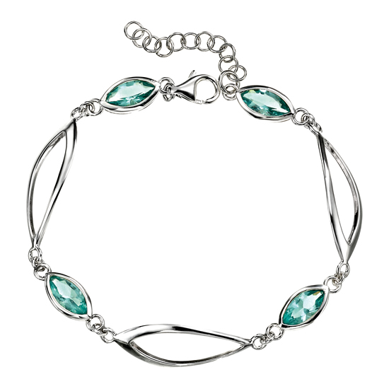 Elements Silver Blue Crystal Bracelet
