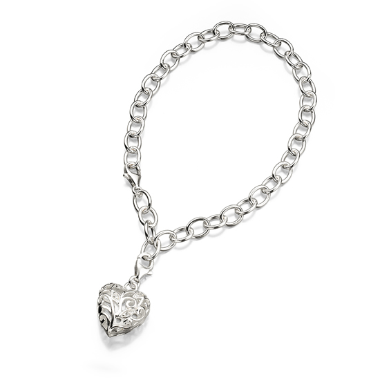 Elements Silver Entangled Heart Bracelet