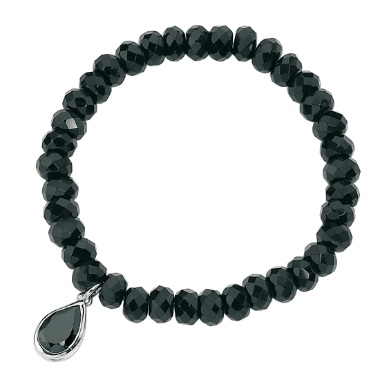 Elements Silver Black Onyx and Cubic Zirconia Bracelet