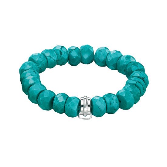 Elements Silver Imitation Turquoise Bracelet