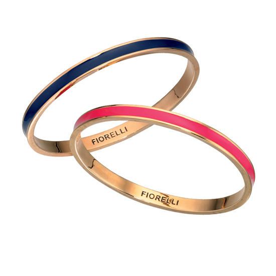 Fiorelli Navy and Pink Gold Stacking Bangles