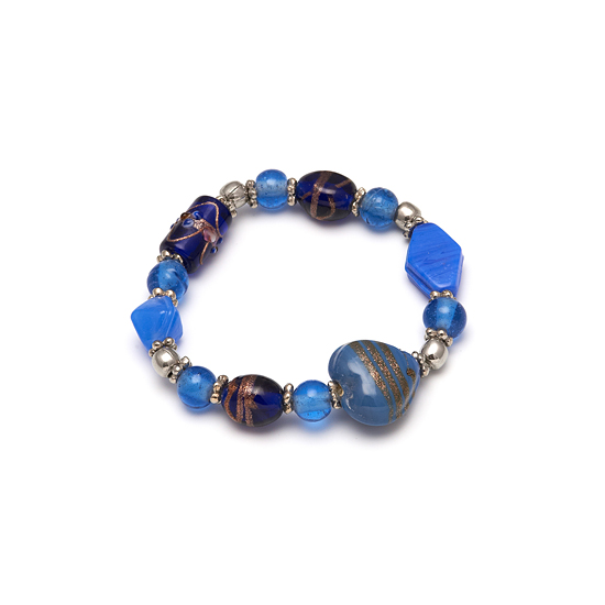 Look East Caramel Heart Bracelet - Blue