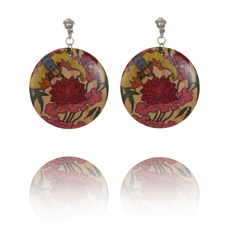 Japanese Yakuza Tattoo Disc Clip On Earrings - Money & Love