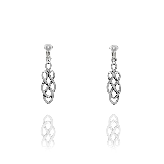 Basics Sterling Silver Celtic Knot Clip On Earrings