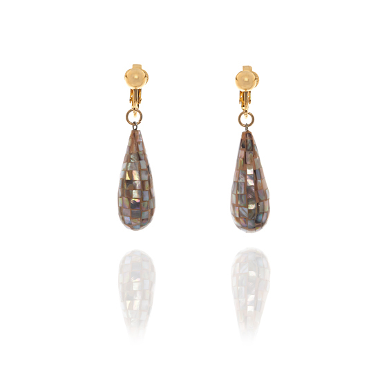 De Mulieribus Claris Mosaic Drop Clip Earrings - Light