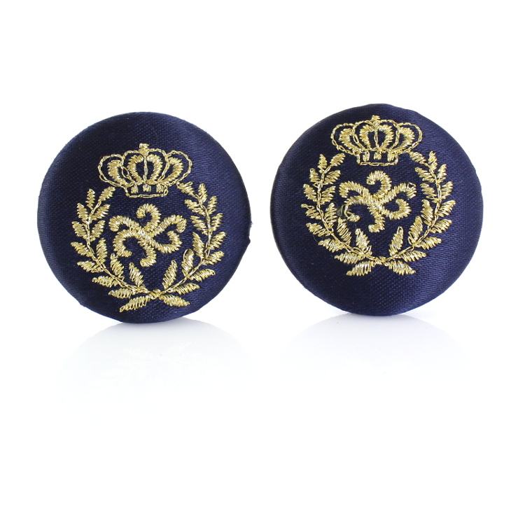 De Mulieribus Claris Queen Of The Oceans Button Clip On Earrings - Blue