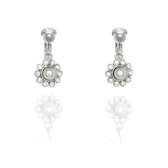 Fiorelli Pearl Flower Clip On Earrings