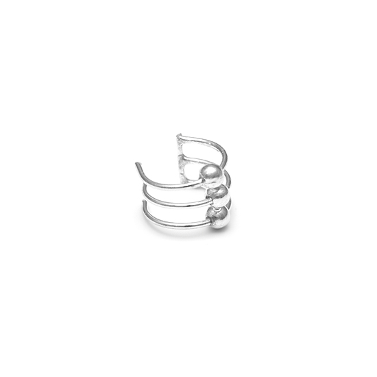 Sterling Silver Triple Ring Ear Cuff
