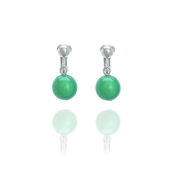 Glowball Clip On Earrings - Green