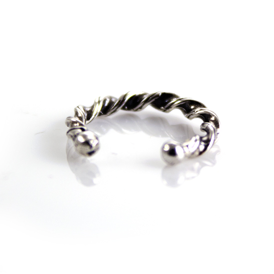 Twisted Band Sterling Silver Ear Cuff