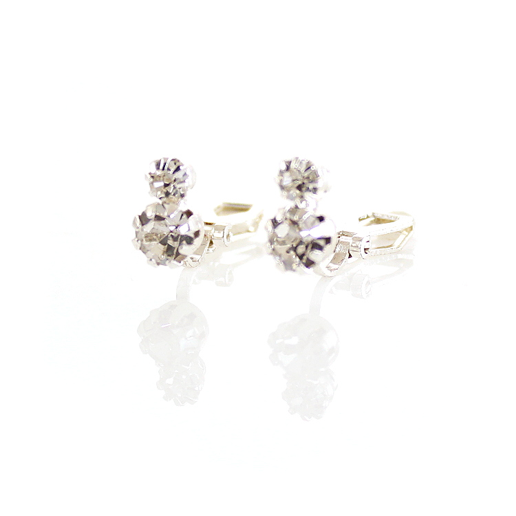 Park Lane Duo Solitaire Crystal Stud Clip On Earrings