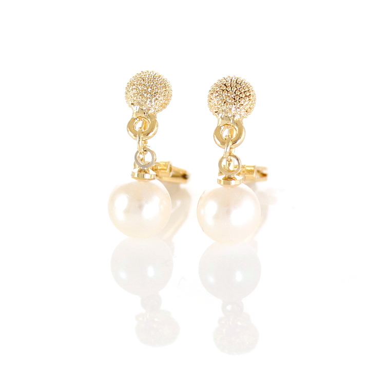 Rodney Holman Petite Pearl Drop Clip On Earrings - Gold