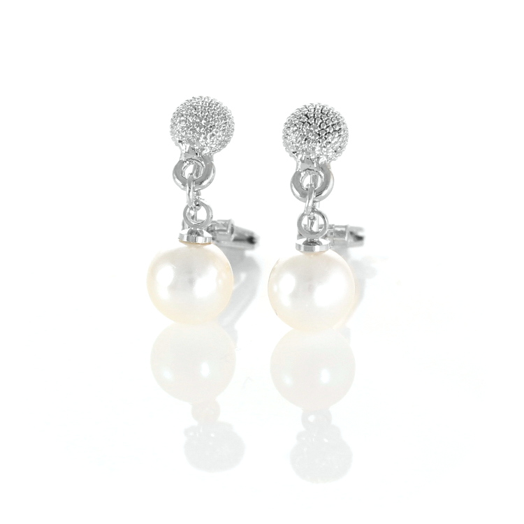 Rodney Holman Petite Pearl Drop Clip On Earrings - Rhodium