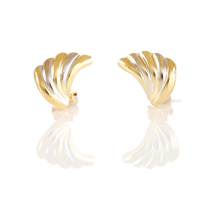 Rodney Holman Scalloped Wing Clip On Earrings