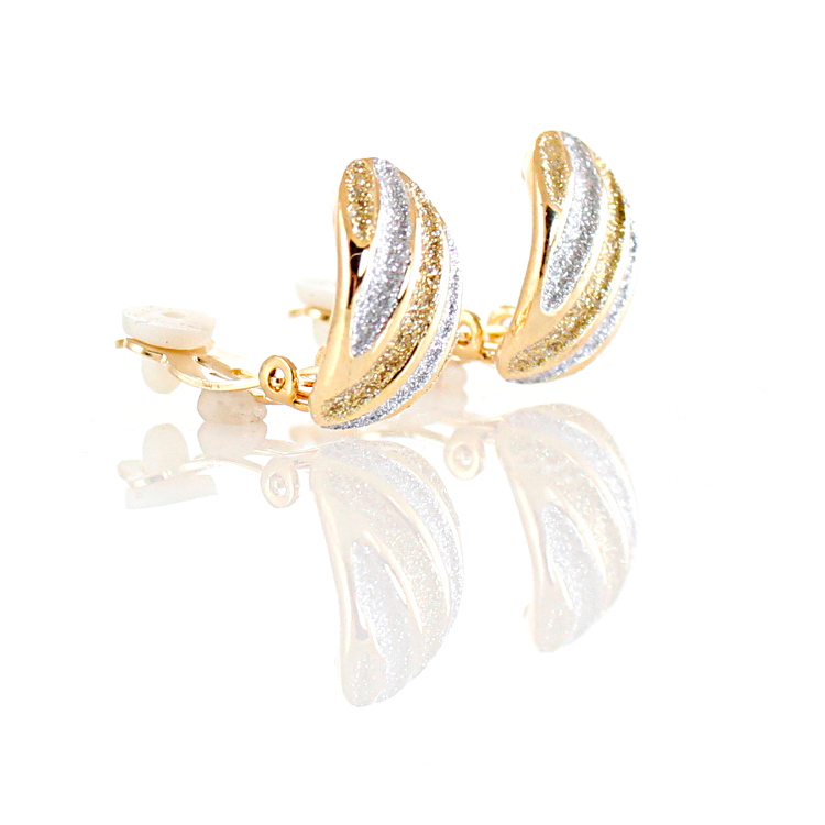 Rodney Holman Sparkle Band Clip On Earrings