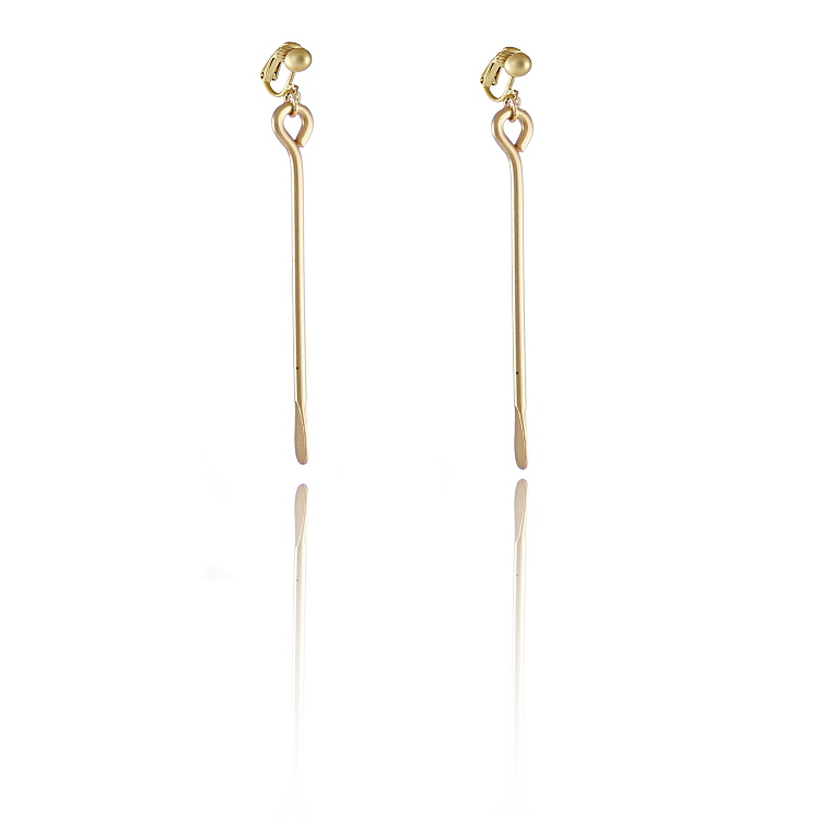 Rodney Holman Gold Drop Clip On Earrings