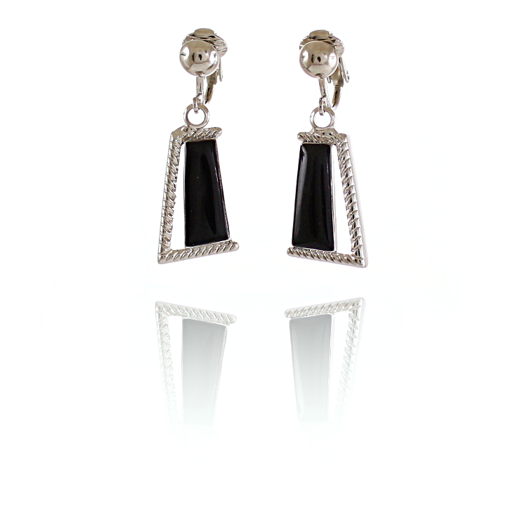 Rodney Holman Dangle Clip On Earrings - Black