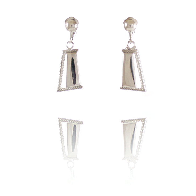 Rodney Holman Dangle Clip On Earrings - Silver