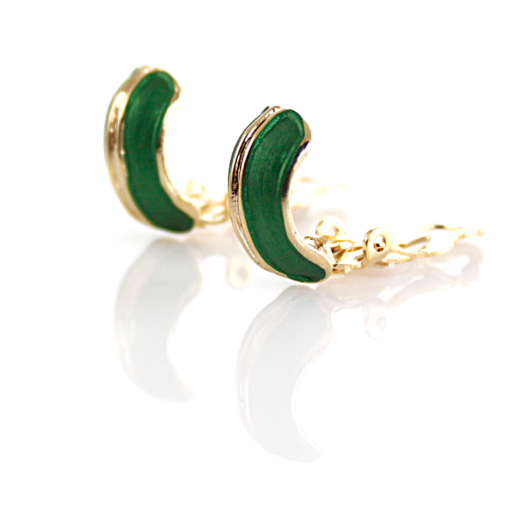 Rodney Holman Band Clip On Earrings – Green