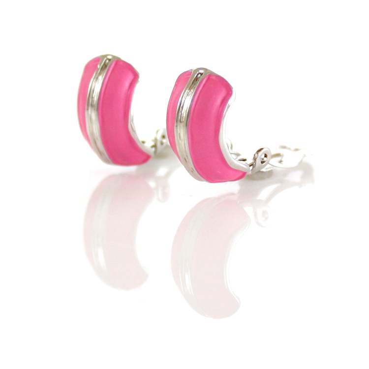 Rodney Holman Band Clip On Earrings - Pink