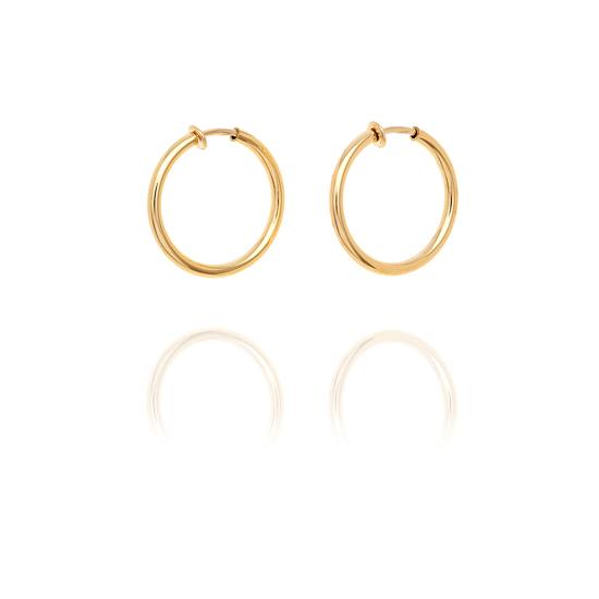 Evans Gold look Chunky Hoop Earrings