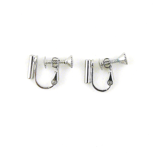 Screw On Barrel Pierced to Clip Earring Converter Silver