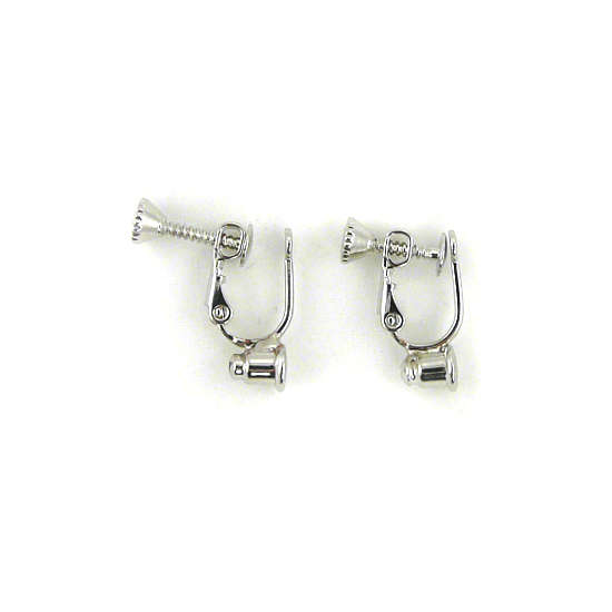Screw On No Bend Pierced to Clip Earring Converter Silver 1 Pair