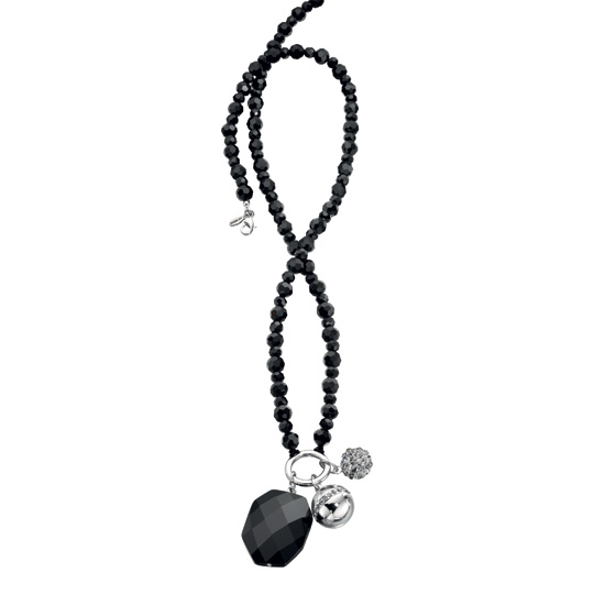 Fiorelli Black Beaded Charming Necklace