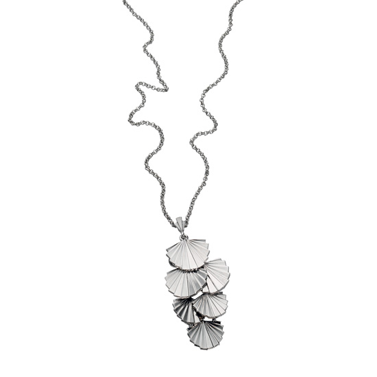 Fiorelli Silver Fan Necklace