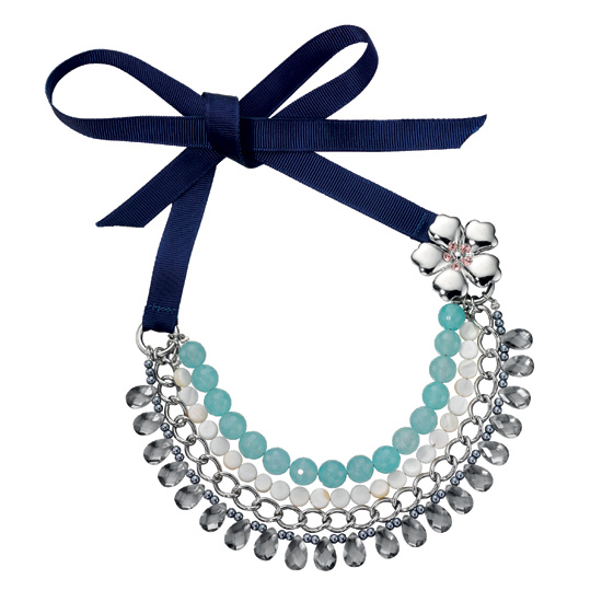 Fiorelli Beaded Crystal Bib Necklace