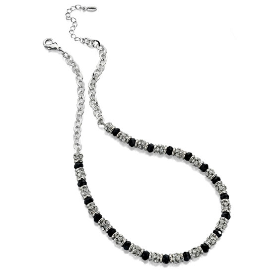 Fiorelli Black and Silver Beaded Necklace