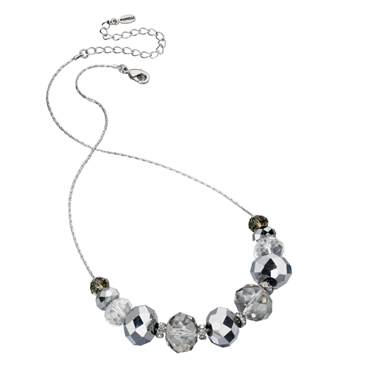 Fiorelli Beaded Short Necklace - Silver
