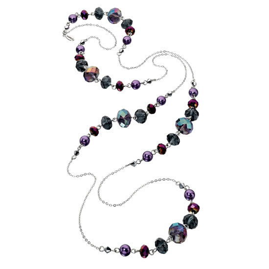 Fiorelli Purple Beaded Necklace