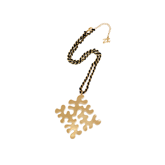 Zandra Rhodes Puzzle Necklace - Gold