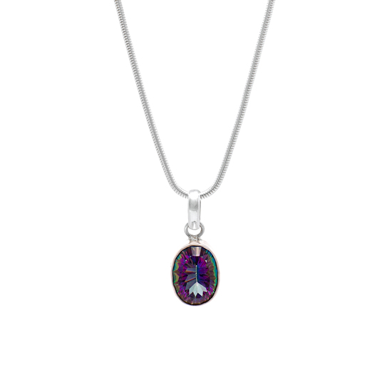 Angel Rocks Mystic Topaz Necklace