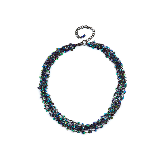 Look East Petite  Multi Strand Strong Sequin Necklace