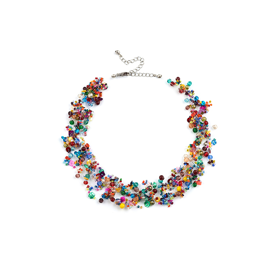 Look East Multi Coloured Sequin Necklace