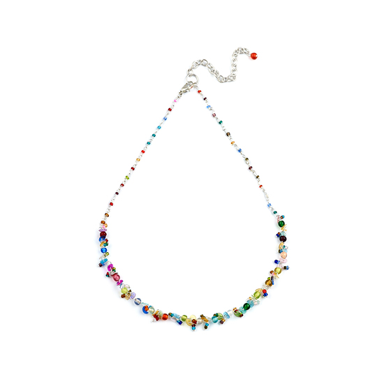 Look East Classic Petite Bead and Sequin Necklace -  Multi-Coloured