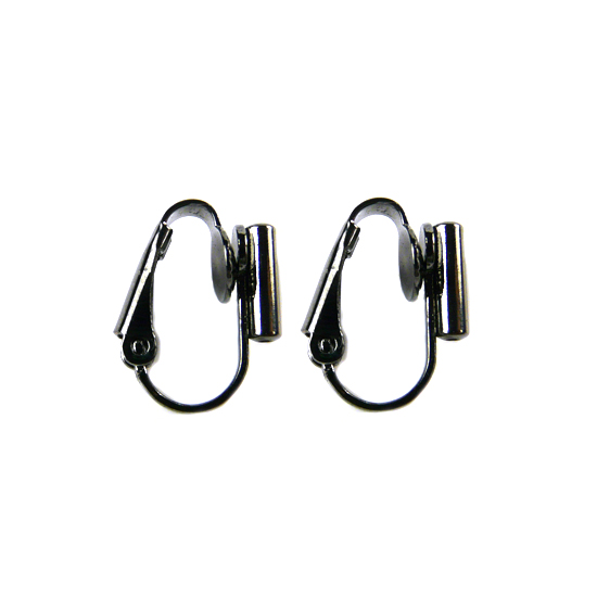 Clip On Earrings Converter Posts - Black Gunmetal