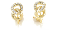 Bling Clip On Earrings