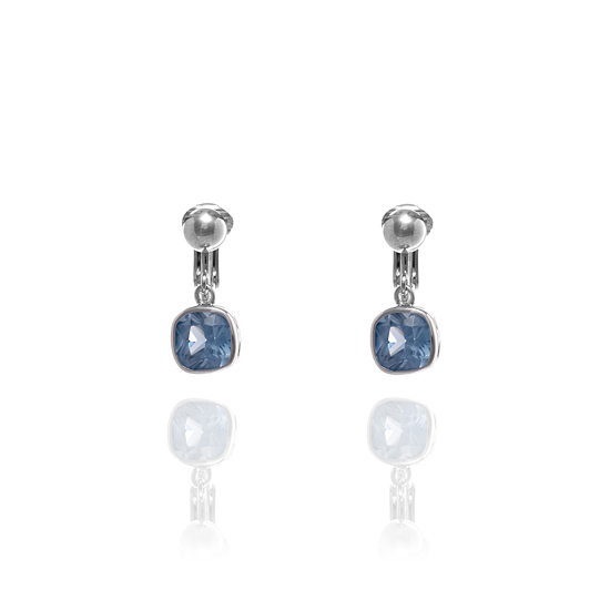 Fiorelli Blue Cubic Zirconia Square Clip On Earrings