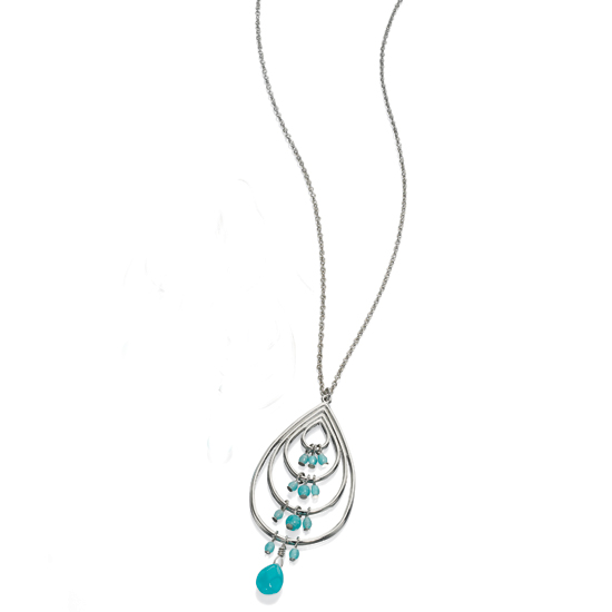 Fiorelli Imitation Turquoise Bead Pendant Necklace