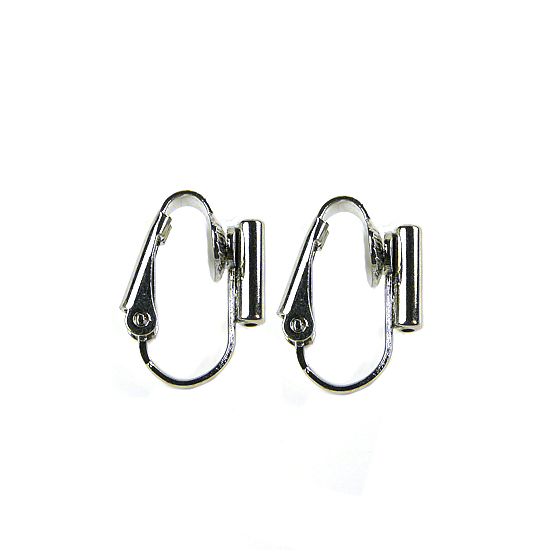 Clip On Earrings Converter Posts - Rhodium Silver